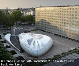Zaha hadid - Architecture institut monde arabe paris © Francois Lacour / AIA Productions 2011, Courtesy Zaha Hadid Architects