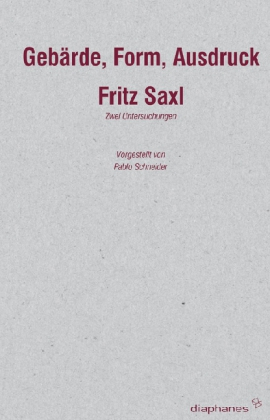 Fritz Saxl © Cover Diaphanes