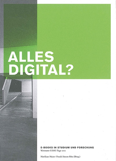 Alles Digital © Cover Bauhaus-Universitätsverlag