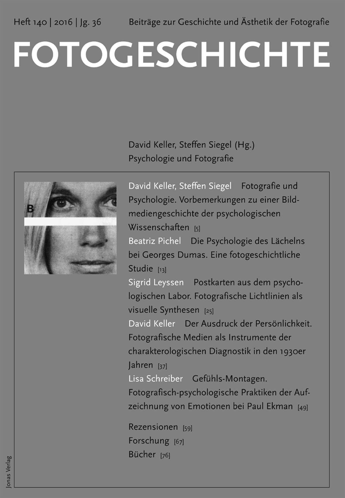 Fotogeschichte 140 © Cover Jonas