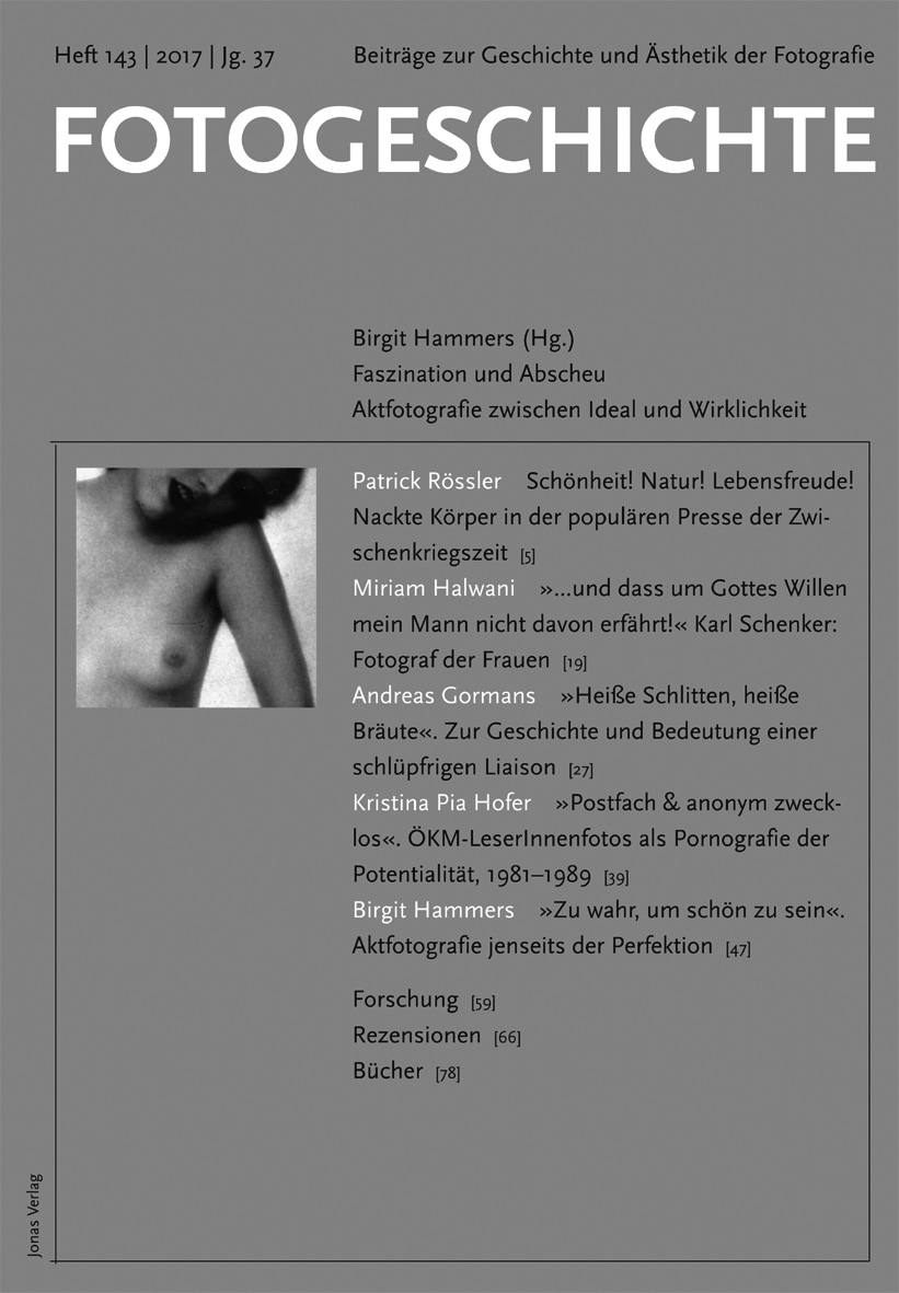 Fotogeschichte 143 © Cover Jonas