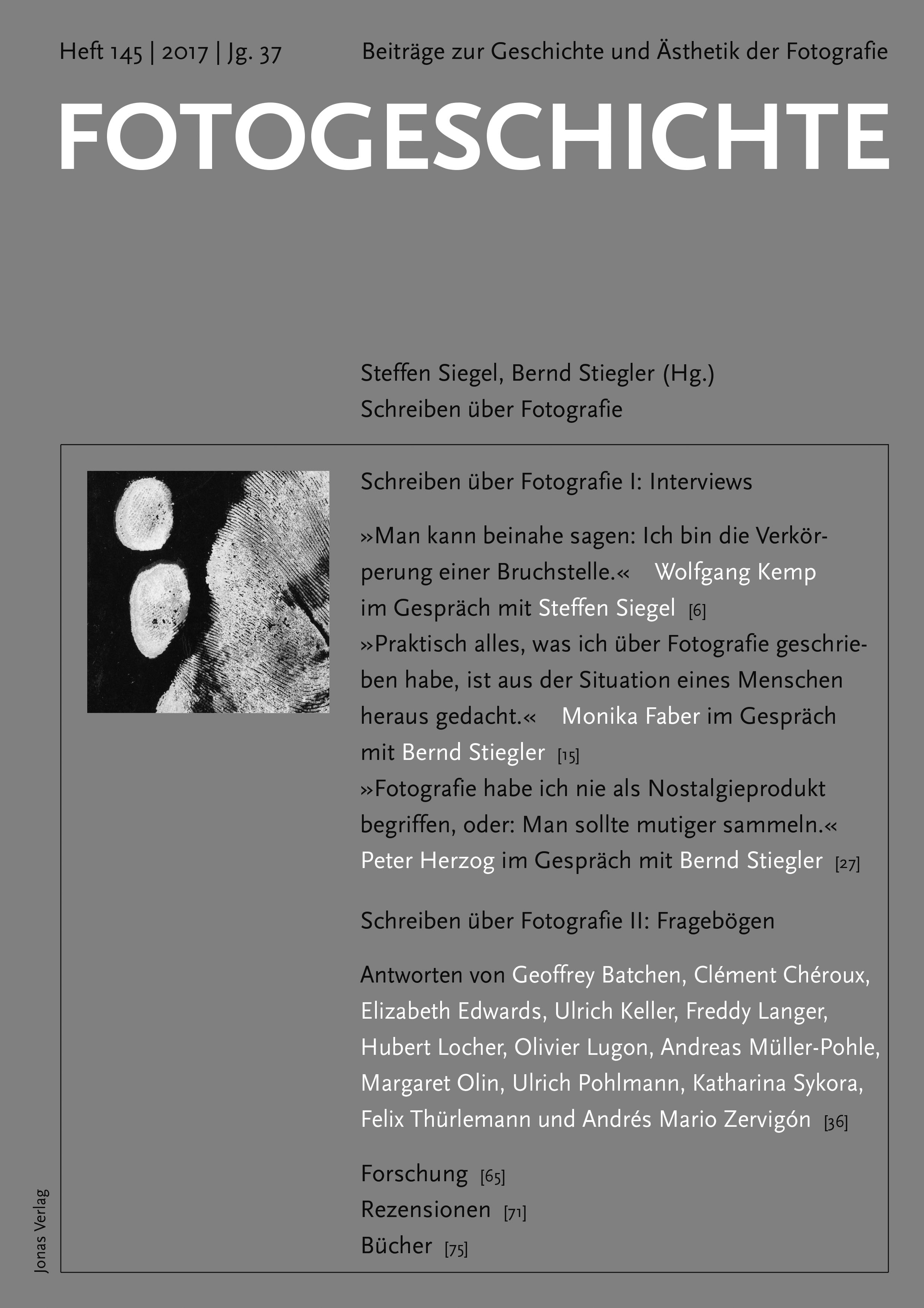 Fotogeschichte 145 © Cover Jonas