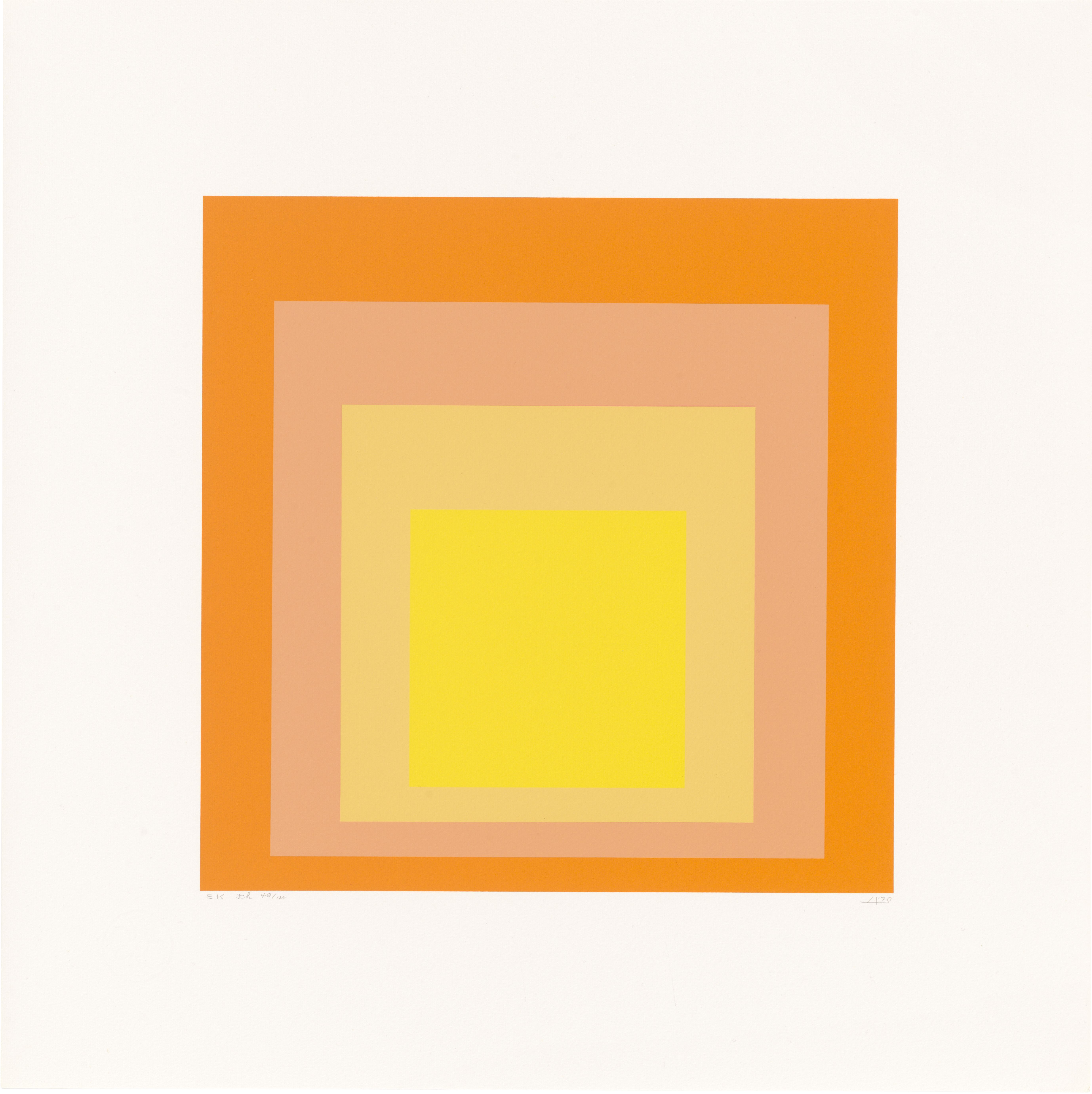 Josef Albers: Homage to the Square: Edition Keller Ih © VG Bild Kunst