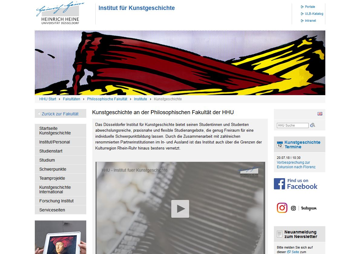 kunstgeschichte heinrich heine universitt dsseldorf - Uni Dsseldorf Bewerbung