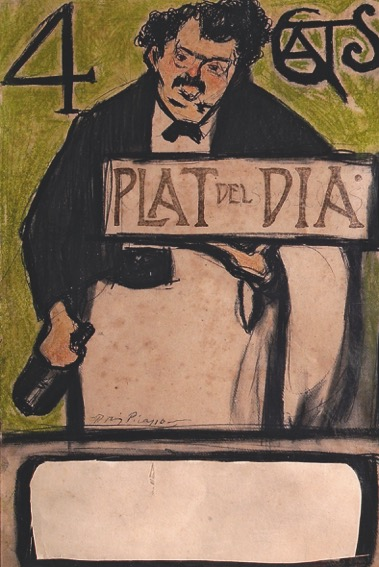 Pablo Picasso: Menu for the Quatre Gats, Dish of the Day, 1900 © Succession Pablo Picasso, VEGAP, Madrid 2018