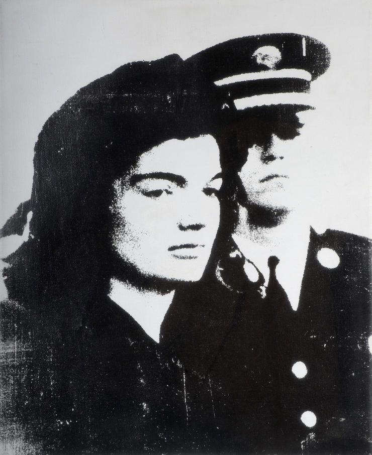 Andy Warhol (1928–1987) Jackie, 1964 Siebdrucktinte auf Leinen, 51 x 41 cm Wolverhampton Art Gallery  © 2019 The Andy Warhol Foundation for the Visual Arts, Inc. / Licensed by Artists Rights Society (ARS), New York