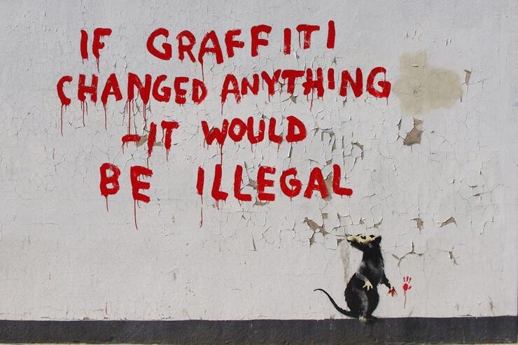 If Graffiti changed anything it would be illegal - London © Wikipedia