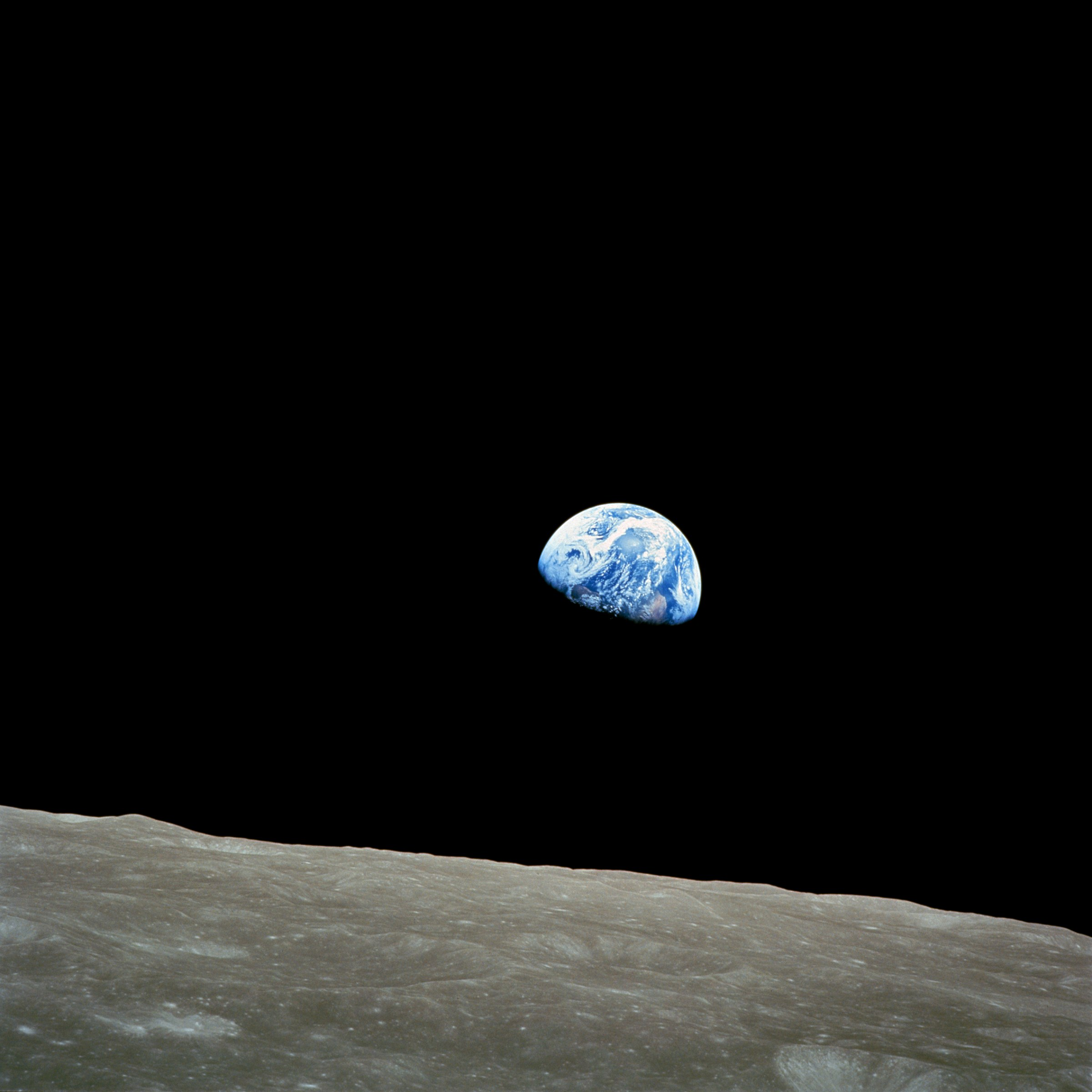 Bill Anders (Apollo 8): Earthrise, 1968 | NASA © Wikimedia Commons